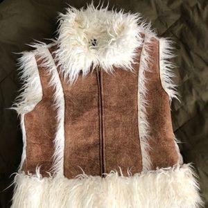 Bebe faux suede /fur vest